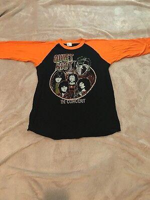 1980 Quiet Riot Originale Manica 3/4 T-shirt / Uomo Misura Medio/deadstock