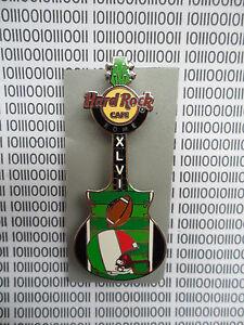 Hard Rock Cafe Rome 2012 - Superbowl XLVl Football Flag Helmet Guitar Series Pin
