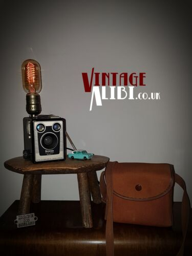 KODAK Brownie Box Camera Vintage Lamp Up-cycled Edison Bulb With Dimmer