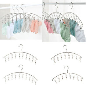4Pcs-Stainless-Steel-Clothes-Drying-Rack-Hats-Rack-Portable-Metal-Hanger