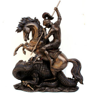 Large-St-George-and-The-Dragon-II-Figure-Collectable-Ornament