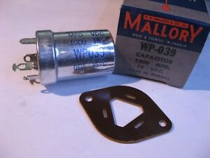 Electrolytic-Capacitor-1-Sect-1000uF-15VDC-Mallory-WP039-85C-NOS