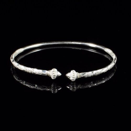 Thin West Indian Bangle 090 Taj Mahal Handmade in Sterling Silver