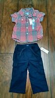 Baby Gap Boys Lot Patriotic Top And Cargo Pants Red White Blue Clothes