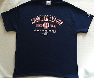 Details about Boston Red Sox T-Shirt Sz XL American League Championship  Series 2004