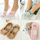 1 Pairs Womens Cute Non-Slip Boat  Loafer Cotton Invisible Low Cut No Show Socks