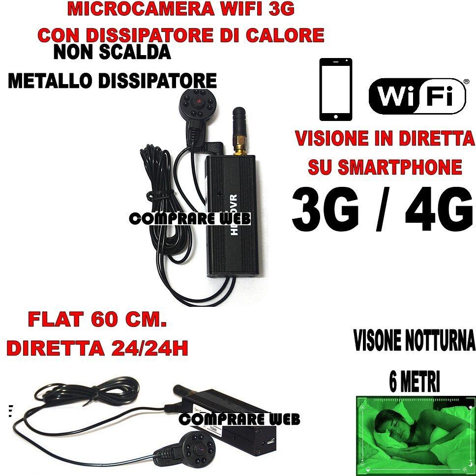 MINI CAMÉRAS NOCTURNE WIFI 3G DIRECT VIDÉO VISION NOCTURNE CAMÉRAS DISPOSITIF D'ÉCOUTE ESPION 511169