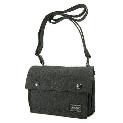 New PORTER SMOKY SHOULDER BAG 592-06583 Black From JP