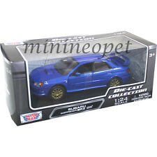 MOTORMAX 73330 SUBARU IMPREZA WRX STI 1/24 DIECAST BLUE