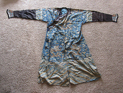 Lovely old Chinese imperial kesi silk dragon robe