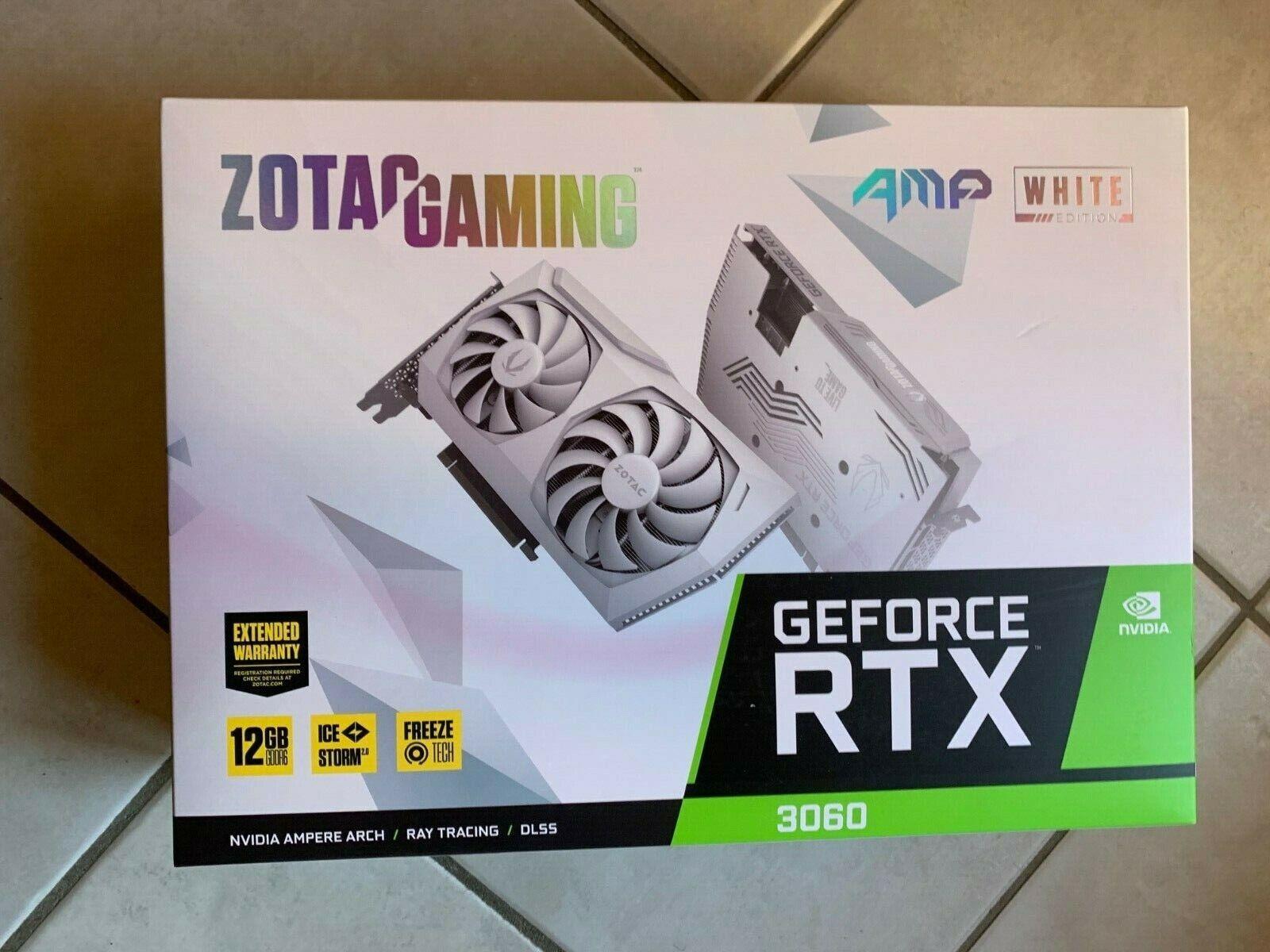 SCHEDA VIDEO ZOTAC Gaming NVIDIA GeForce RTX 3060 AMP White Edition 12 GB GDDR6