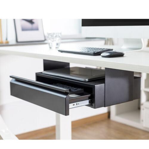 Unterbau Untertisch Schublade mit Regal Fach Schubladenschutz Schreibtisch