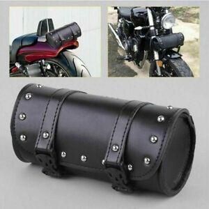 Borsa-Bisacce-Moto-Customo-Porta-Attrezzi-Barilotto-Forcella-Saddle-Bags-Nero