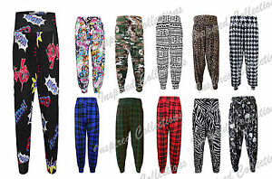 c06bb0d4bc0 Image is loading Ladies-Plus-Size-Printed-Harem-Pants-Cuffed-Bottom-