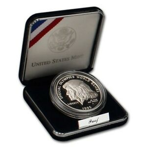 1995-Special-Olympics-World-Games-Commemorative-Proof-90-Silver-Dollar-Coin