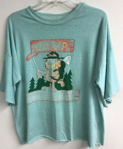 "Vintage ""Camp Garfield"" Flirts Distressed Shirt Ni"