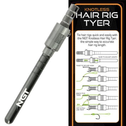 NGT Cheveux Rig Crochet Attache Tyer Outil Pêche à La Carpe Tackle Tresse Cheveux Rigs Pop Ups