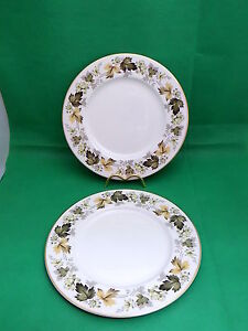 Royal-Doulton-Larchmont-Dinner-Plates-x-2