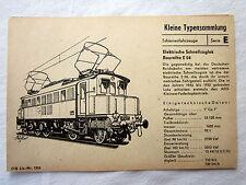 DDR Kleine Typensammlung Schienenfahrzeuge - Elektrische Schnellzuglok E 04
