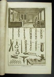 Chainetier-Hersteller-von-Ketten-Diderot-XVIII-1767-Komplett-Kette-Hersteller