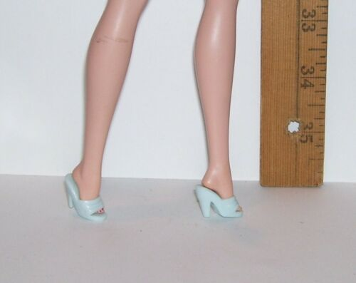 MATTEL FITS VINTAGE /& STANDARD BARBIE /& SILKSTONE PALE BLUE OPEN TOE DRESS SHOES