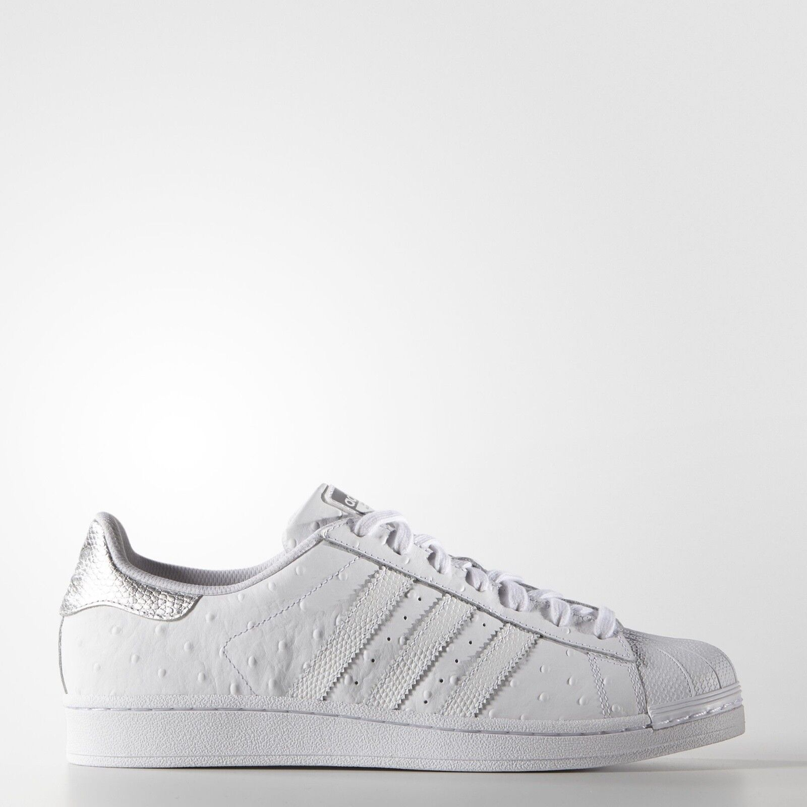 NEW Men's Adidas Superstar shoes color  White Size  10.5