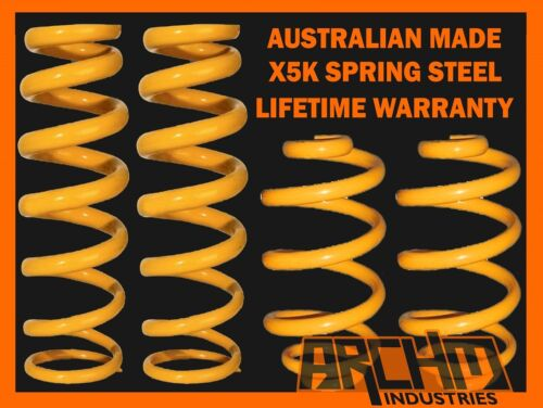 HOLDEN COMMODORE VL SEDAN 8CYL FRONT /& REAR ULTRA LOW KING COIL SPRINGS