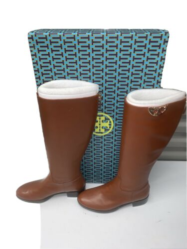Tory Burch Sidney Boot Hi Veg  Penny Brown Leather