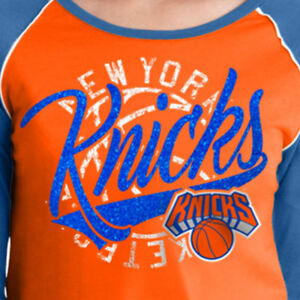 20de076cf NEW YORK KNICKS ~ Women s NBA Long Sleeve Baby Jersey Tee ORANGE ...