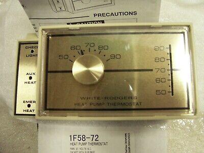 White Rodgers 1f58 72 Heat Pump Thermostat Jj 786710000850 Ebay