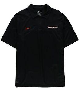 Nike Mens Oregon State Quarter Zip Rugby Polo Shirt, Black, Small