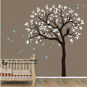 Image Is Loading Owl Hoot Star Tree Wall Stickers Vinyl Decal