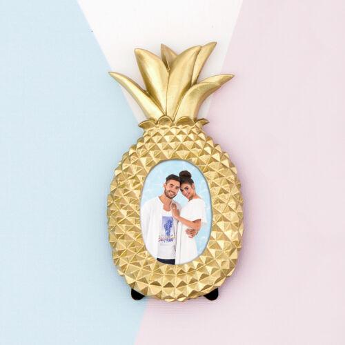 Photo Frame Gold Pineapple Design Mini Pack of 6