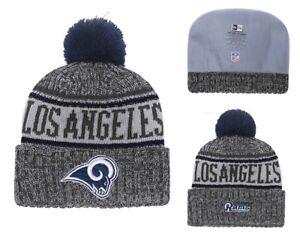 2018 Los Angeles Rams New Era NFL Knit Hat On Field Sideline Beanie ... ac50762a4c31