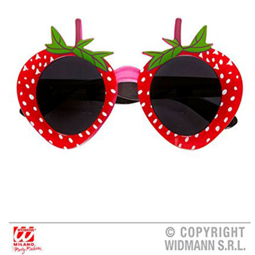 New Widmann Strawberry Glasses for Food Fruit Fancy Dress Accessory
