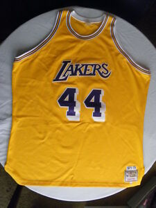 fab639abad6 Mitchell Ness M N Los Angeles LA Lakers Jerry West Authentic Jersey ...