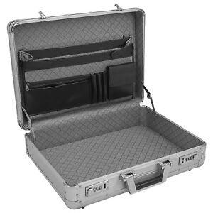 Aktenkoffer Aluminium Attaché Koffer Silber business Zahlenschloss abschließbar
