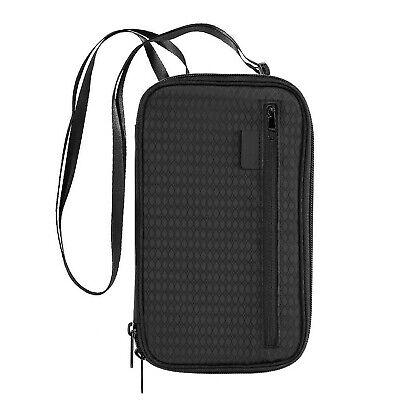 Travel Wallet RFID Blocking Passport Wallet Holder Cover Waterproof Document Organizer Bag with Hand Strap for Men /& Women