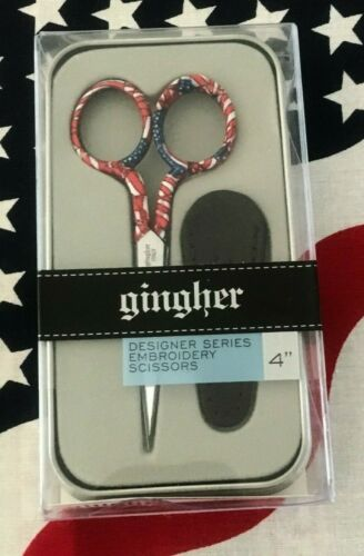 GINGHER DESIGNER SCISSORS RED WHITE AND BLUE ~FREEDOM OR GLORY ~ 8/' OR 4/""
