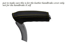 YELLOW STITCH FITS MERCEDES SLK R171 2004-2011 LEATHER HANDBRAKE HANDLE COVER