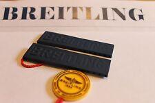 100% Genuine New Breitling Blue Diver Pro 3 Rubber Deployment Strap, 20-18mm.