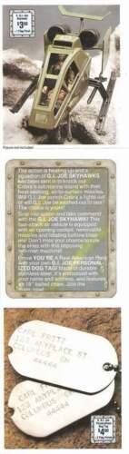 1988 GI Joe OPERATION DEEP SIX insert Vamp MKII Keel Haul Ace mail away JTC P805