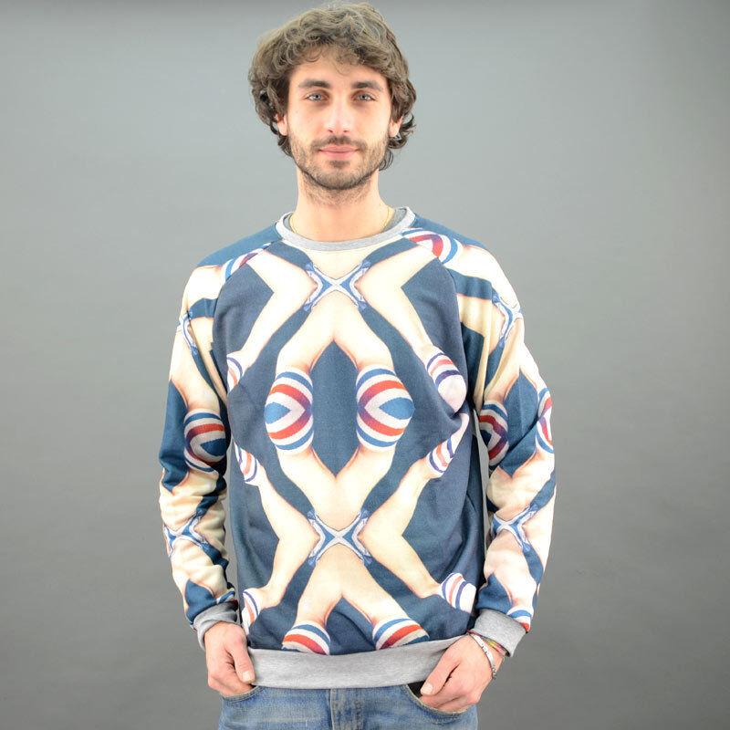 M. U. T.I Sweat-Shirt Coton Chaussettes Hautes Bleu Modèle Mu021