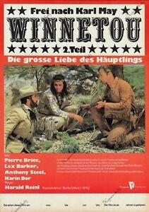 "DDR Progress Filmplakat A3 Winnetou 2. Teil ""Pierre Brice, Lex Barker"" Karl May"