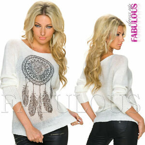 Sexy-European-Women-039-s-Ladies-Jumper-Sweater-Pullover-Knit-Top-Size-8-10-12-S-M-L