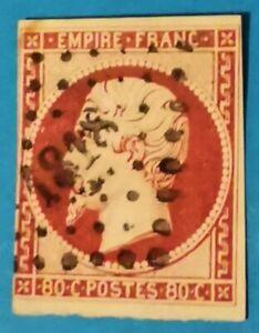 TIMBRE  EMPIRE LAURE (TB 931-1) N° 24 c Rose carminé f.OBLIT los. PC 1818 Hyeres