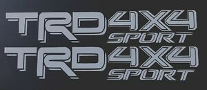 2 TRD OFF ROAD TOYOTA RACING DEVELOPMENT SPORT TACOMA TUNDRA 4X4 DECAL STICKER