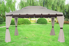 3x4M Aluminium Deluxe Pavilion Gazebo Awning Canopy Sun Shade Shelter Marquee