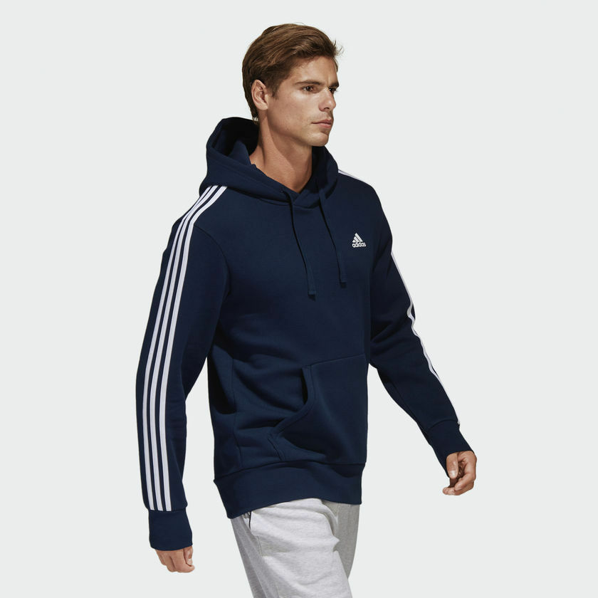 Adidas férfi pulóver kabrió futás 3 csíkos képzési Navy Essential CD8696 Új