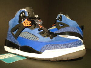 pretty nice a6d53 fae1c Image is loading NIKE-AIR-JORDAN-SPIZIKE-NEW-YORK-KNICKS-BLUE-